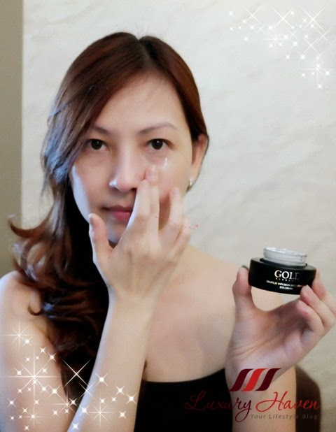 luxury haven reviews gold elements eye cream