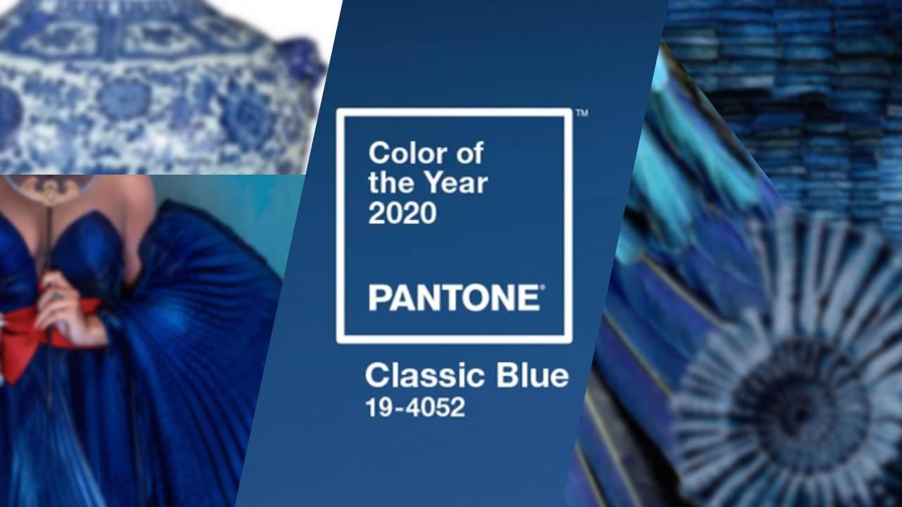 Cor do ano 2020 - Pantone Classic Blue - Suéter Azul
