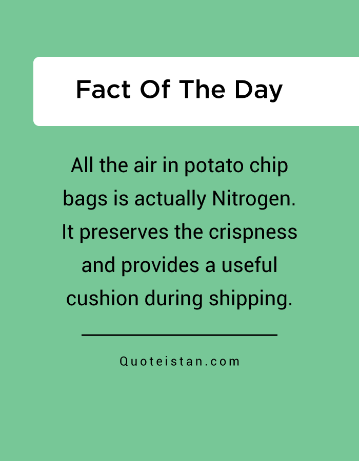 All the air in potato chip bags is actually Nitrogen. It preserves the crispness and provides a useful cushion during shipping.