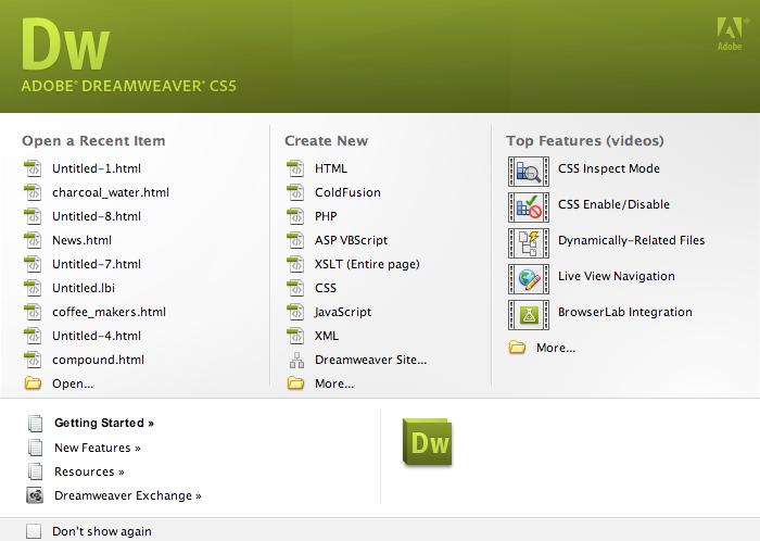 تحميل برنامج dreamweaver cs5 كامل مجانا