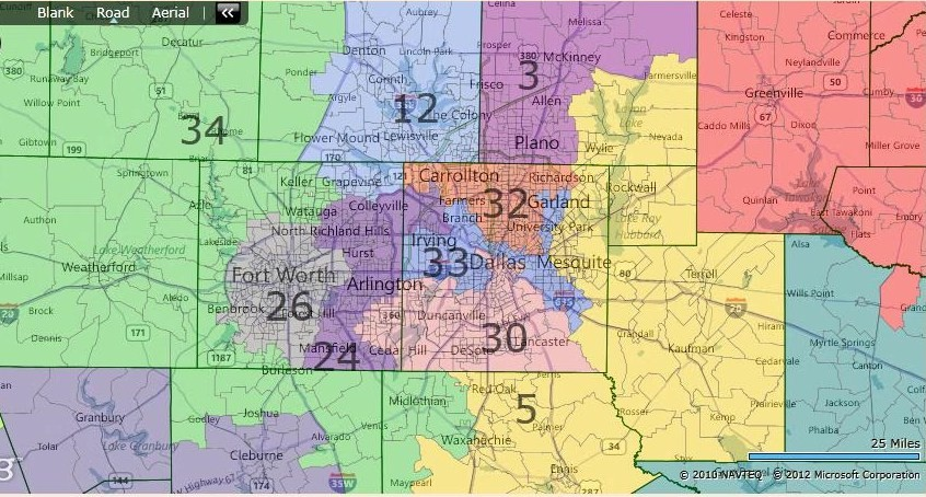 Map Of Texas 30th District.Races And Redistricting Texas Fair Redistricting Map