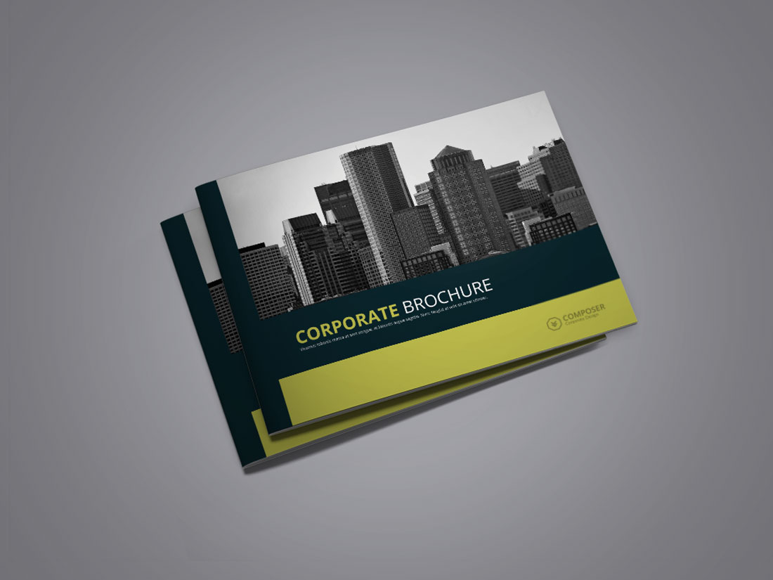 Corporate Brochure Landscape Graphic Idenic