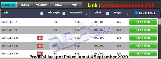prediksi jackpot poker meja smallest 4 september 2020
