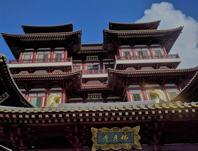 the building of Buddha Tooth Relic Temple
