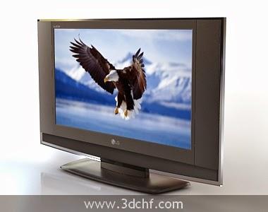 free 3d model lcd tv