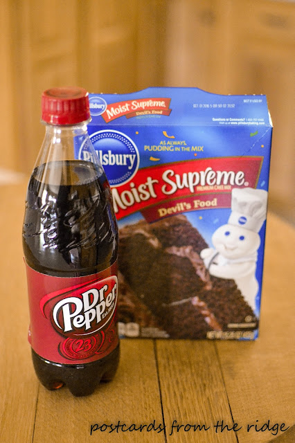 2 ingredient Dr Pepper® cupcake recipe ~ Postcards from the Ridge