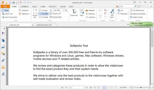 افضل برنامج لقراءة الكتب الالكترونية مجانا Foxit Reader 7.1.0.306
