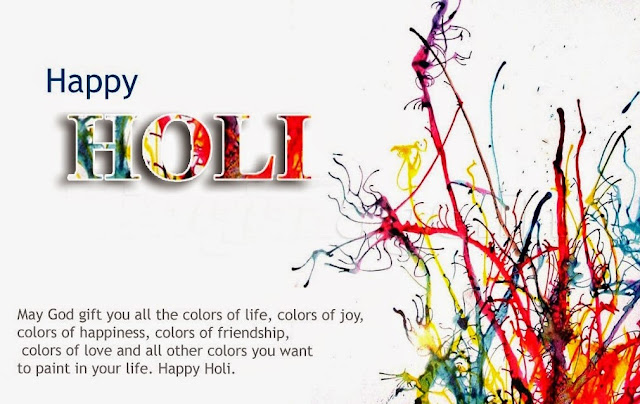 holi messages with images HD