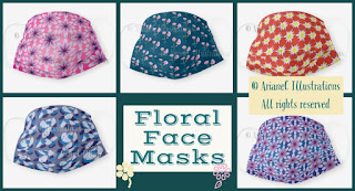 Floral - girly face mask