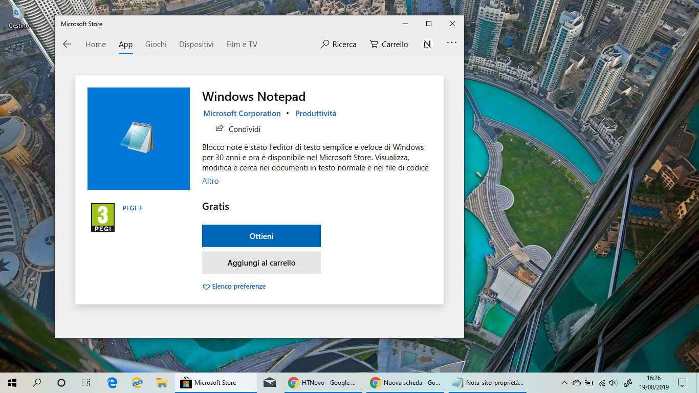 Blocco-note-Windows-10-Microsoft-Store