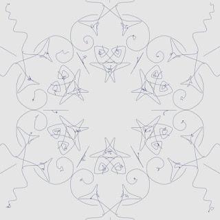 再帰関数の計算式を変えて描いた面白い形