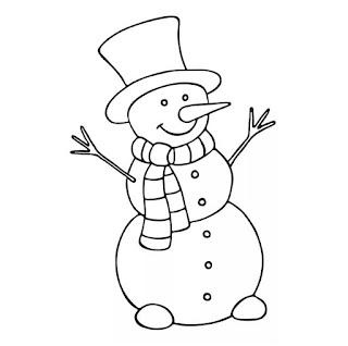 דף צביעה איש שלג שמח