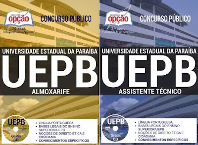Apostila Almoxarife UEPB, Grátis testes (PDF).