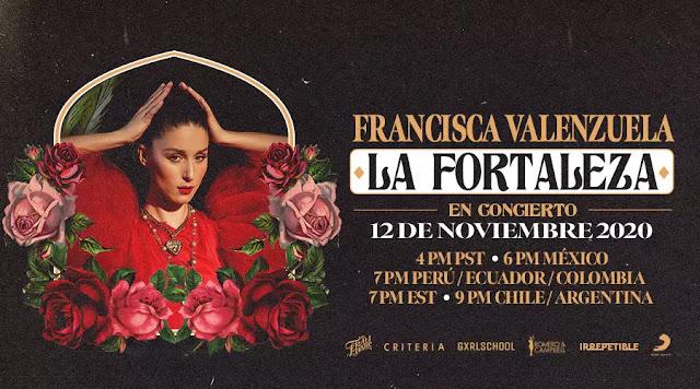 """Francisca Valenzuela presenta """"La Fortaleza"""" en un concierto online"""