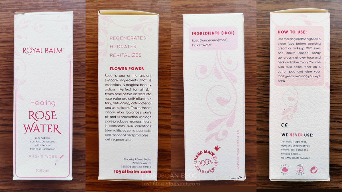 Royal Balm prirodna kozmetika Ružina voda, 100% čisti hidrolat ruže, gde kupiti i cena