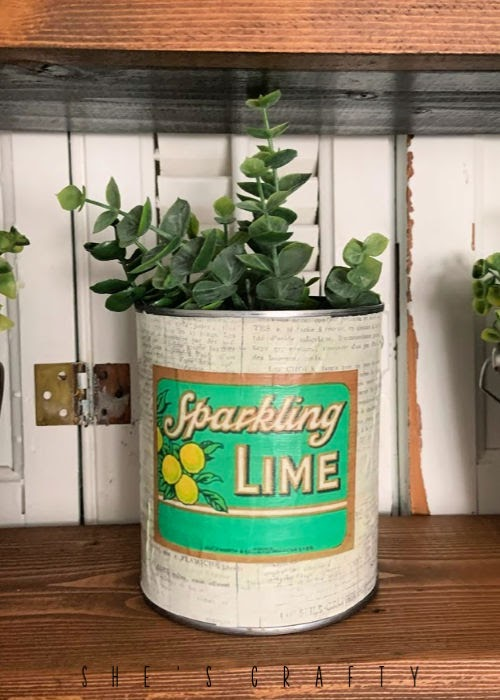 Faux Vintage Can Display  |   make a faux vintage can with printable vintage label