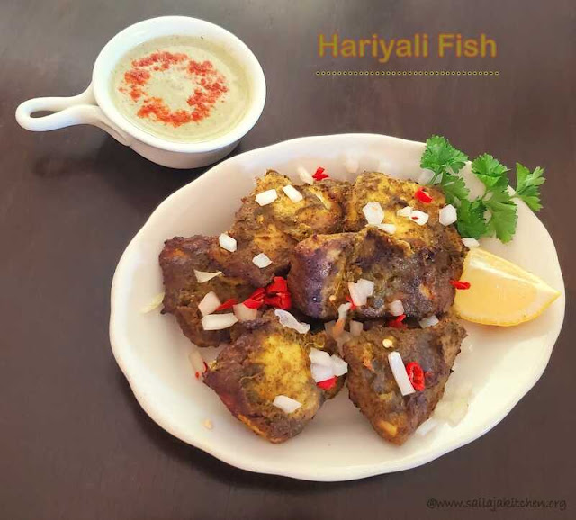 images of Hariyali Fish /  Hariyali FishTikka / Fish Hariyali Tikka Recipe / Fish Hariyali Tikka in Air Fryer - Air Fryer Recipes