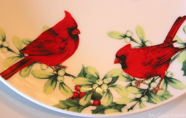 My cozy corner tablescape 57 the christmas cardinal for Where can i buy a red christmas tree