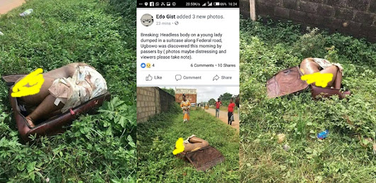Headless Body Of A Nude Lady In A Suitcase Dumped On The Road In Benin (Graphic Pics)