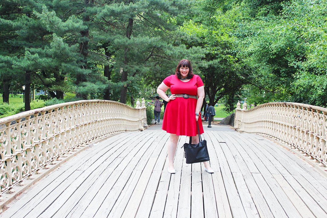 Society Plus Skater Dress, Plus Size Dress, Plus Size Blogger Amber from Style Plus Curves, Central Park, New York City