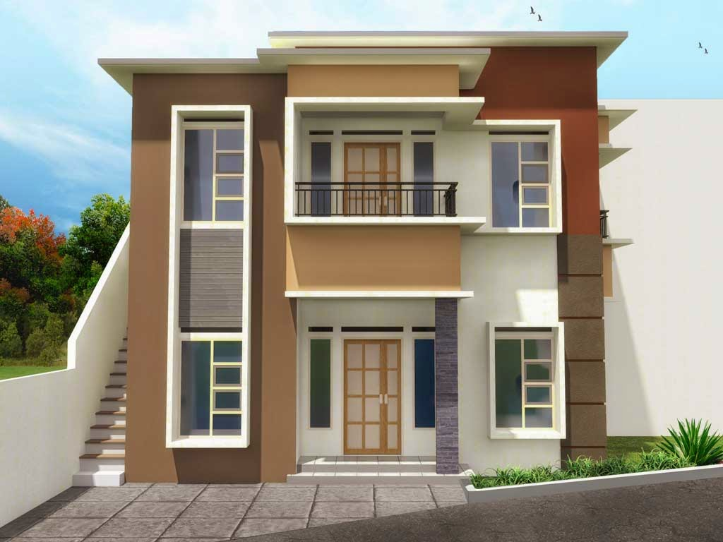 Gambar Rumah Minimalis 2 Lantai Sangat Sederhana Desain Rumah Minimalis