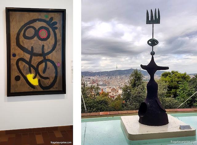 Obras expostas na Fundação Joan Miró, em Barcelona