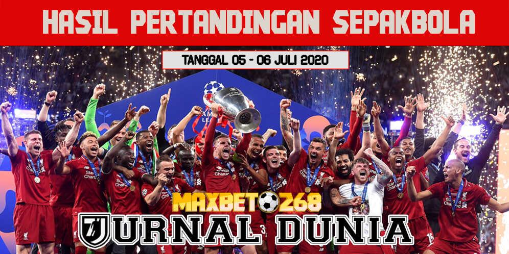 Hasil Pertandingan Sepakbola Tanggal 05 - 06 Juli 2020