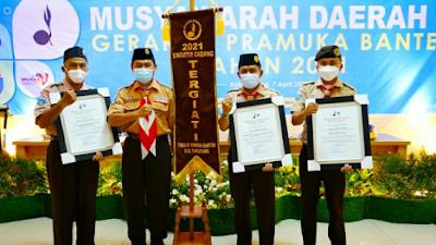 Kwartir Cabang Gerakan Pramuka Kabupaten Tangerang  meraih Penghargaan