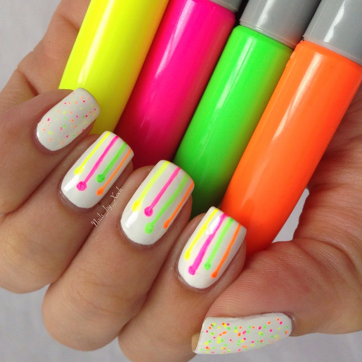 Nails by Xoch: Sharpie Neon Design