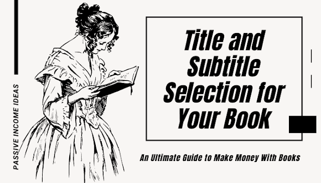 Self Publishing Book Title Subtitle Selection