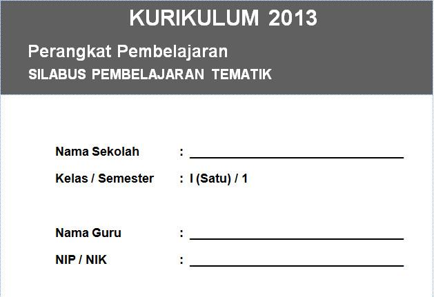 Silabus Kurikulum 2013 Kelas 2 Integrasi