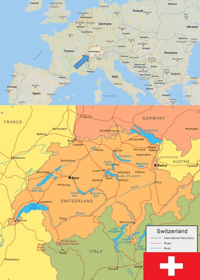 peta negara swiss