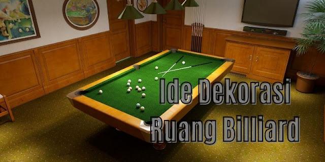 ide dekorasi ruang billiard