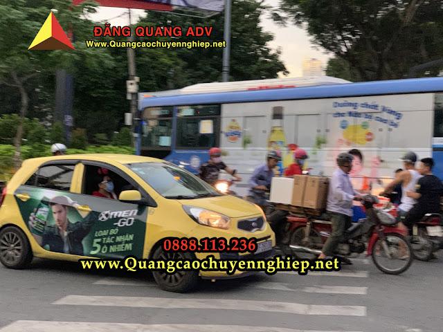 Dán quảng cáo trên taxi tại Đà nẵng