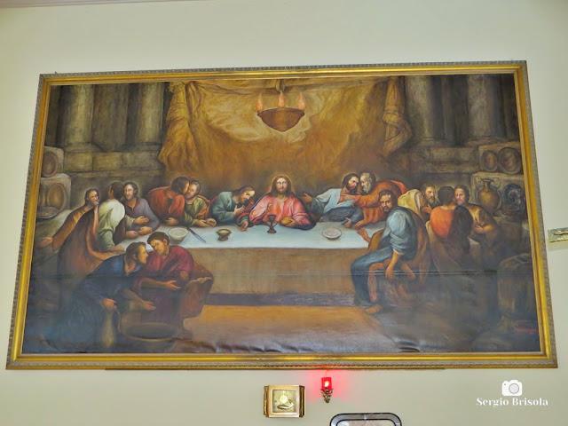 Close-up da Tela do Altar da Paróquia Santa Rita de Cássia - Vila Mariana - São Paulo