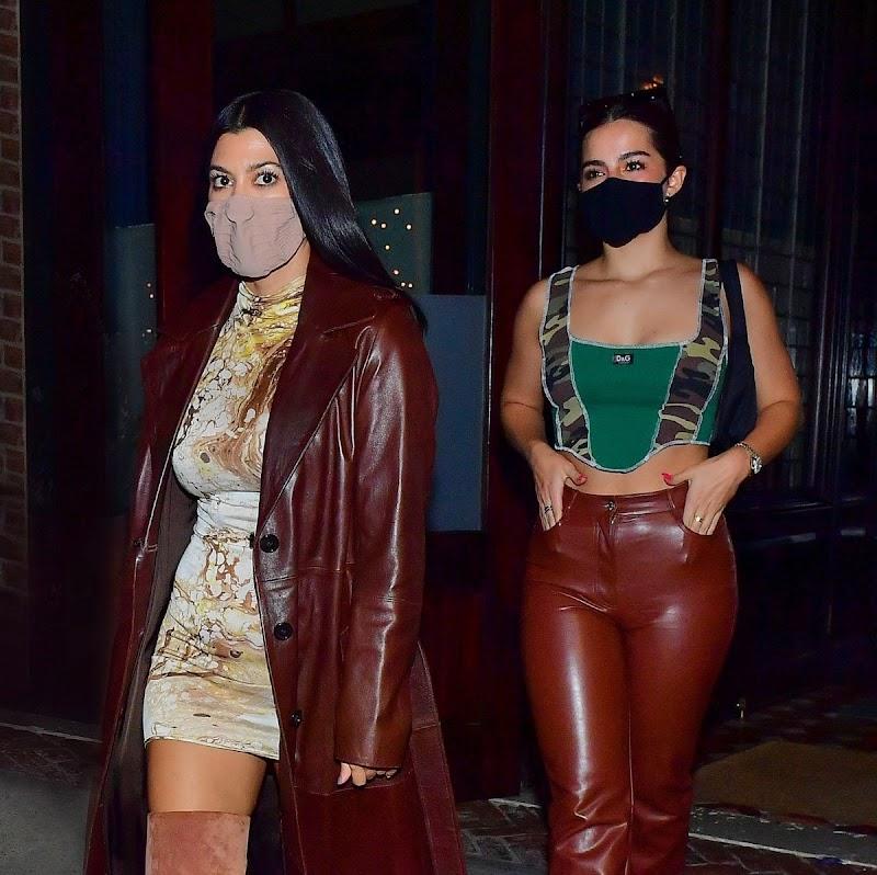 Kourtney Kardashian,Addison Rae Night Out in New York 10 Oct -2020