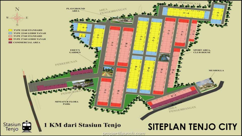 Site Plan Tenjo City Bogor