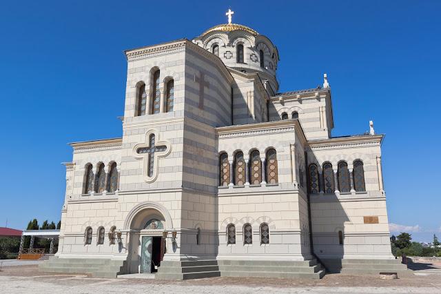 Севастополь, Крым - 26 июля 2020 года Святой Владимир в Херсонесе Севастопольском, город Севастополь, Крым