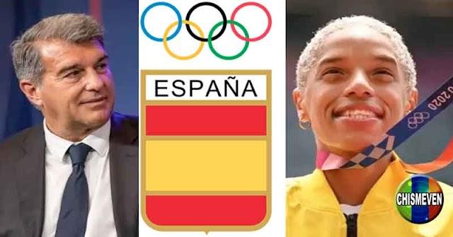 ORGULLO ESPAÑOL | Presidente del Barça orgulloso por el triunfo de su Atleta Yulimar Rojas