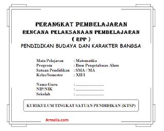 Download RPP KTSP Matematika Kelas XII IPA SMA