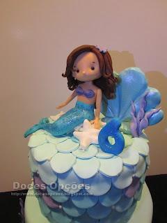 pastel de cumpleaños con sirena braganza