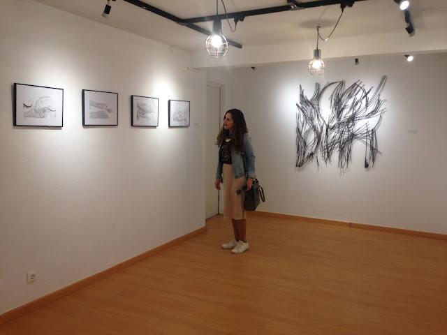 Pelas Cais 16 na exposição de Leonor Pêgo