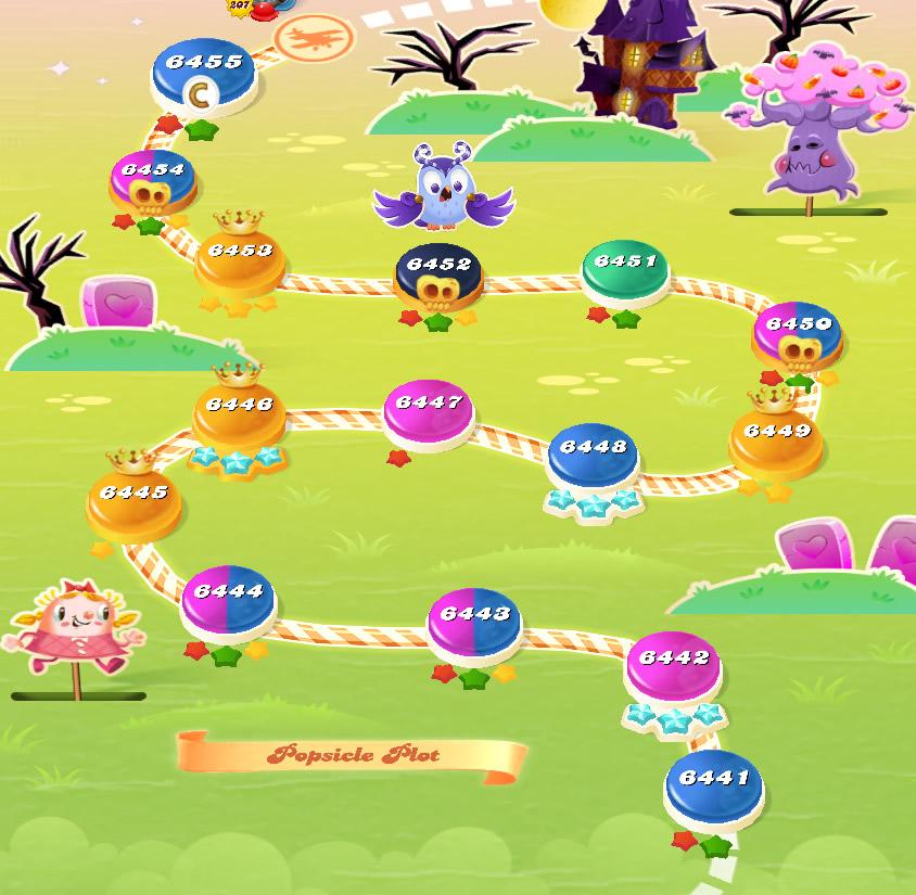 Candy Crush Saga level 6441-6455