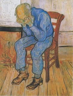 Anciano apenado (En la puerta de la eternidad) Vincent van Gogh 1890
