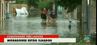 Chuvas devem continuar até final desta terça-feira, alerta Aesa; já foram quase 500mm