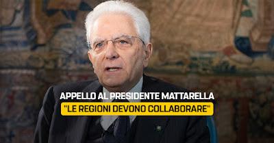 Sullo scontro tra Regioni del centrodestra e governo ho scritto a Mattarella - m5stelle.com - notizie m5s