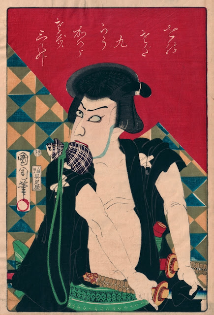 Kunichika. Kawarazaki Gonjûrô I as Ishikawa Goemon
