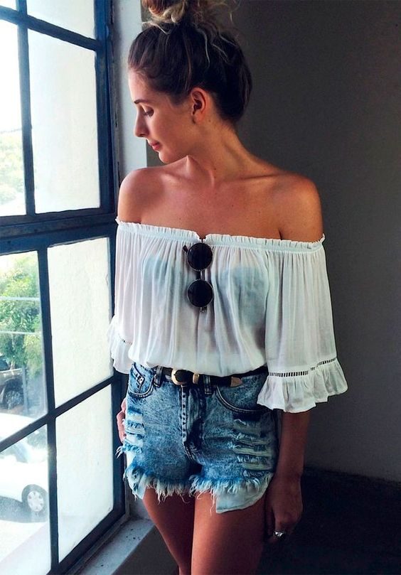 maneiras de usar blusa ciganinha