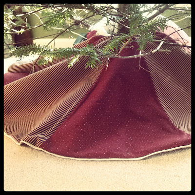 The Rittler Family Tree Skirt - Photo by Taste As You Go