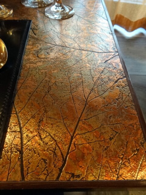 Copper Leaves Tabletop at The Blonde Bear Tavern